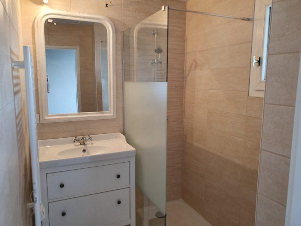 Etat final des travaux de la salle de bain
