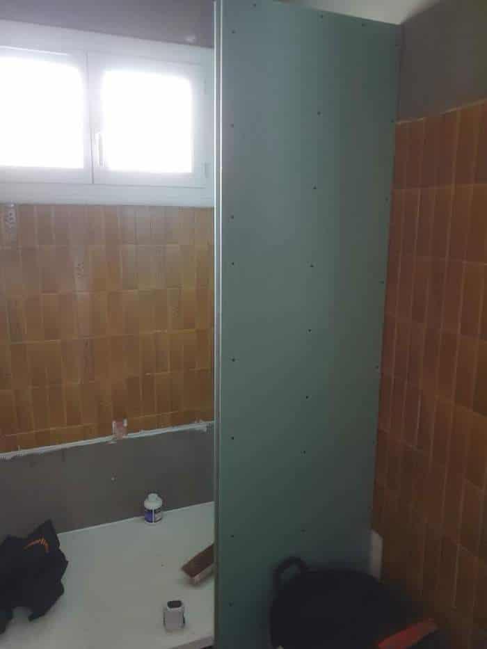 Avancement rénovation salle de bain Lanton