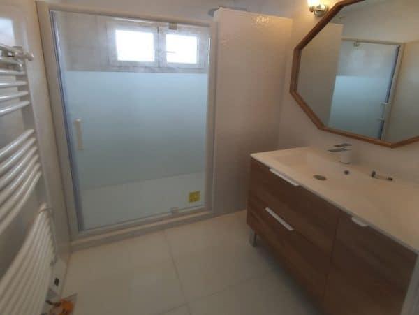 Salle de bain travaux terminés lanton